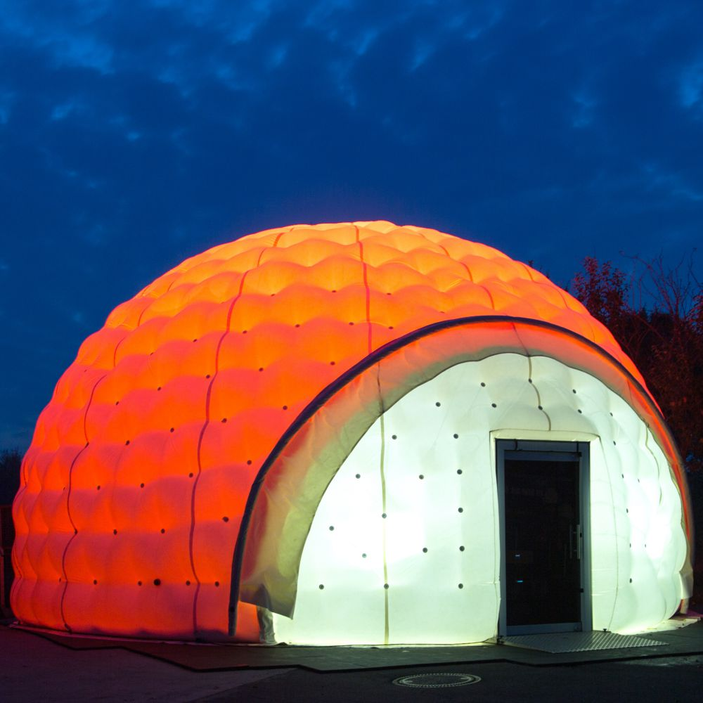 aiRdome | VR 360° nachts - interne LED Beleuchtung
